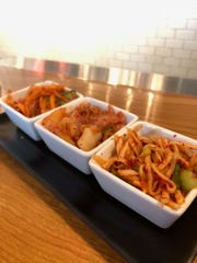Kimchi served at Gogi Seoul Kitchen in Royal Oak.
