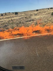 Arizona brush fires closed highways in Holbrook and