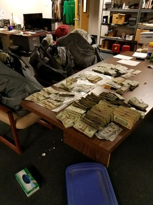 Drugs and cash seized in a joint operation between Indianapolis and Kansas State police.