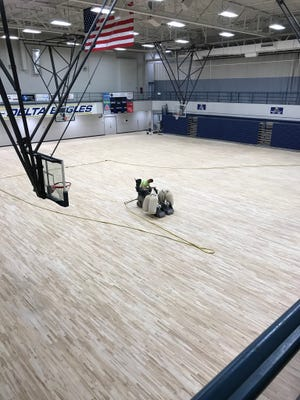 Delta's new gym floor