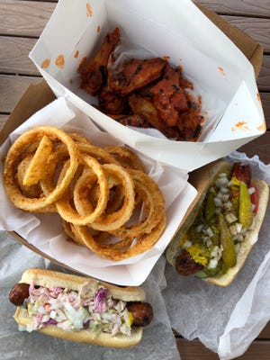 Schnapper's Hots offers a menu of hot dogs, burgers, wings and shakes at a new location in Naples.