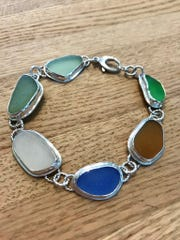 Wow your friends with this delicate sea glass silver