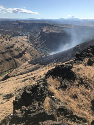 The Boxcar Fire is burning in Central Oregon.