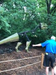 """The """"robo-dinosaur"""", from the Robodicius era, shows"""
