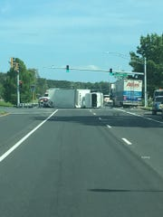 A crash on Route 13 on Thursday afternoon has slowed