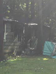 A fire gutted a cottage on the property of a Russian