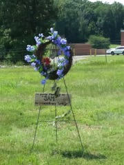 A memorial has been installed near the intersection