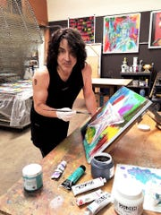 Kiss guitarist Paul Stanley has painted for nearly