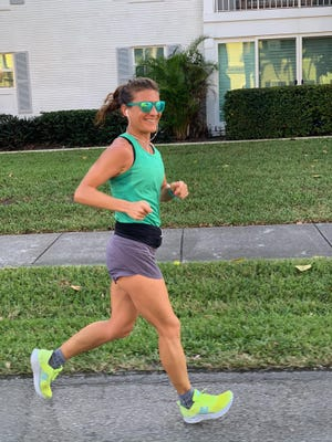 """Delray Beach resident and sub-three-hour marathoner Melissa Perlman says that training has become challenging lately because """"there are so many people outside on bikes, walking, running, rollerblading, etc. that it often feels like the old arcade video game Frogger."""""""