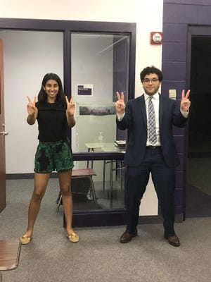 Jackson High School Seniors Shreyaa Nagajothi (left) finished second in the Lincoln-Douglas Debate and Adam Hamdan finished second in United States Extemporaneous Speaking. Hamdan also was a 2020 state champion.