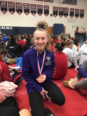 Jackson sophomore Kiara Hockman is a two-time qualifier for the state gymnastics competition. As a freshman, Hockman qualified in the balance beam and this year she qualified in the vault, where she finished 12th, and the floor exercise, where she finished 22nd.
