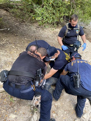 """Austin-Travis County EMS officials on Tuesday said a person who had reportedly """"collapsed"""" near the Barton Creek greenbelt was taken to a hospital by emergency crews."""