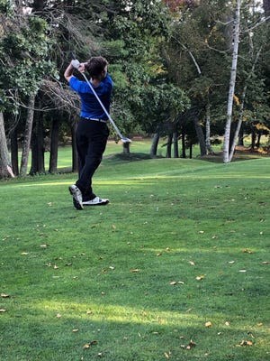 In this photo from the Leominster Athletics Twitter account (@LeomAthletics), the Leominster High School golf team starts its 2020 season Friday, Sept. 25 with a contest against Algonquin.