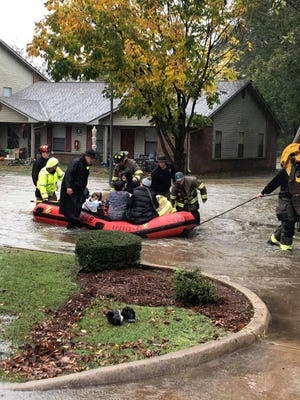 Alma Fire Department and Crawford County Emergency Management evacuated 10 residents from an Alma apartment complex on Wednesday afternoon.