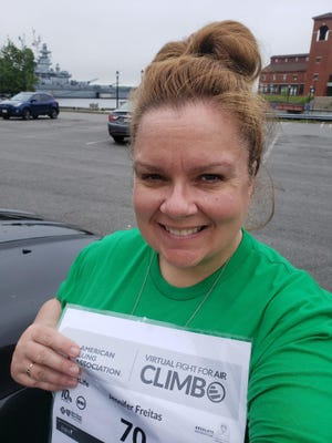 Jennifer Freitas, of Fall River, participated in the American Lung Association's Virtual Fight For Air Climb Providence.