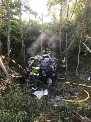 Summer Snedden's car from Thursday's wreck scene.