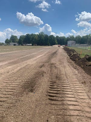 Work is underway on Whiteford's new all-weather track.