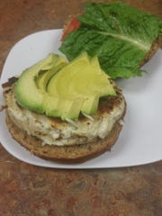The chicken, bacon and avocado burger at Healthy and Delicious Grill in Toms River.