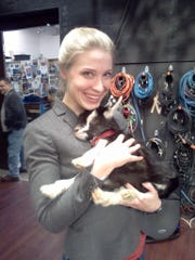 KatieRunde with Baby Goat at WFSB.4-1-14.jpg