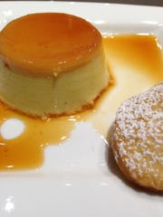 Flan made by farmer Mara Welton and chef Amy Bacon at the Around the Farmer's Dinner Table series at South End Kitchen.