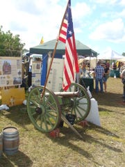 The displays at the Swamp Heritage Festival include historical artifacts.