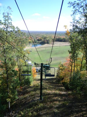 A colorful landscape could be seen for miles at the height of Bruce Mound during their annual Fall Color Ride.