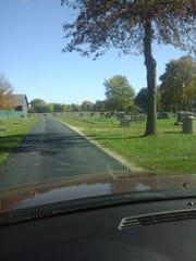 After phase one paving, Riverview Cemetery visitors