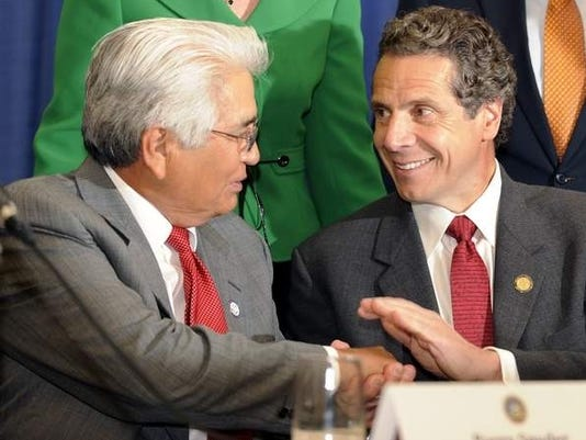 Barry Snyder and Andrew Cuomo