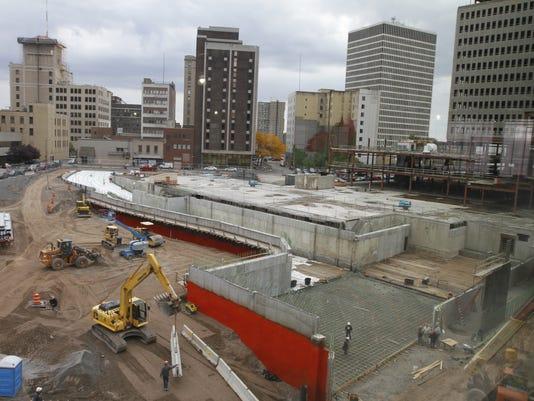Midtown construction site