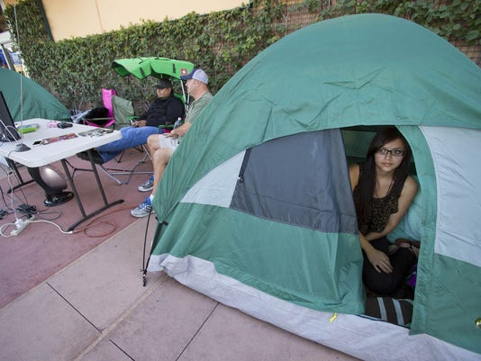 camping out for Black Friday deals shopping