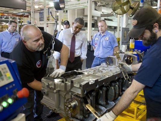 Obama at Detroit Diesel Plant