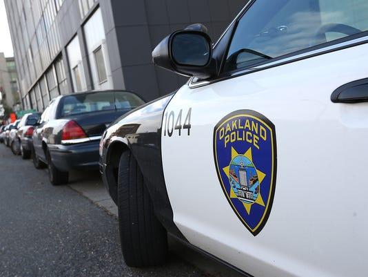 Oakland cop car