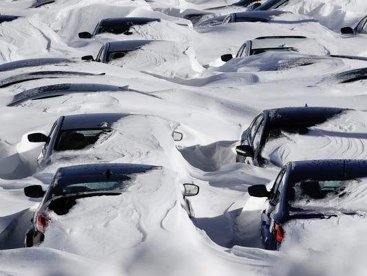 cars buried