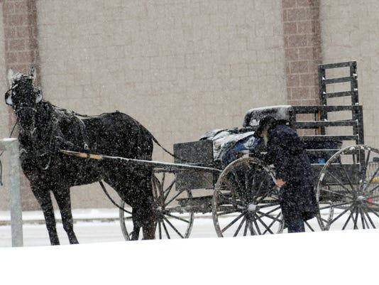 amish winter ohio
