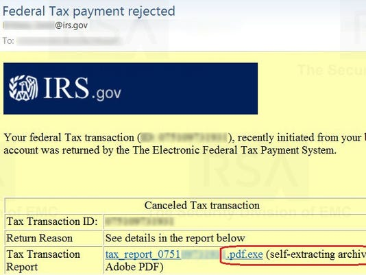 A bogus IRS e-mail