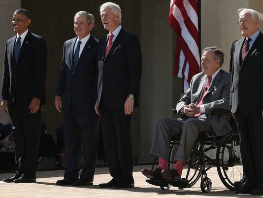 bush obma carter clinton presidents