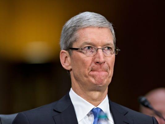 Apple CEO Tim Cook testifying