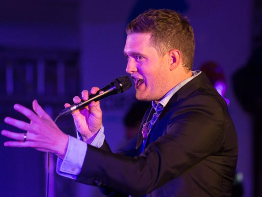 Michael Buble croons for a crowd of Cannes Lions attendees