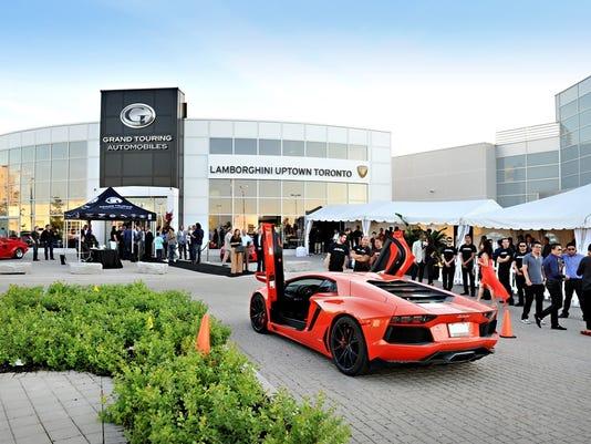 italian super car brand lamborghini opens a dealership in toronto