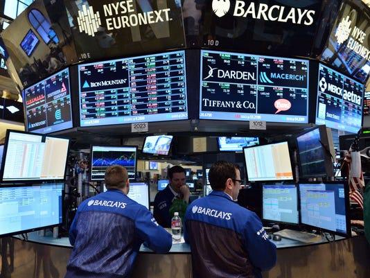 Stock specialists on New York Stock Exchange