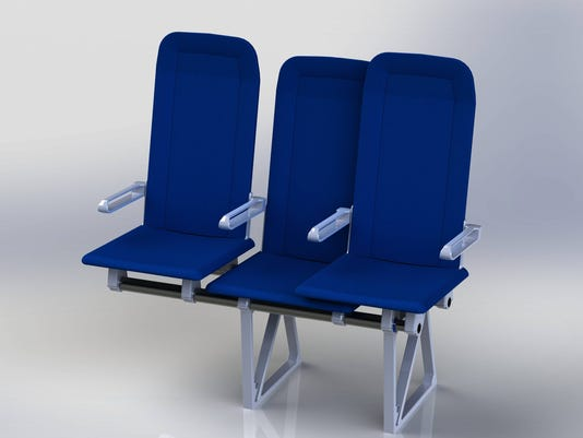 sliding airplane seats