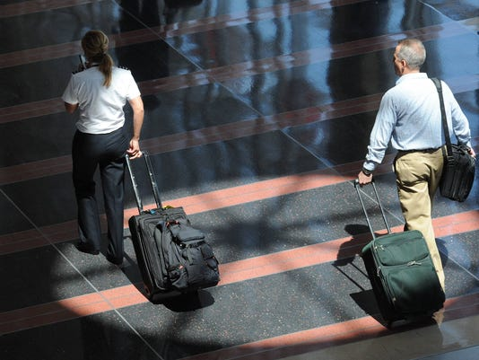 Airport rollaboard baggage