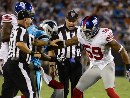 Giants Panthers replacment fight