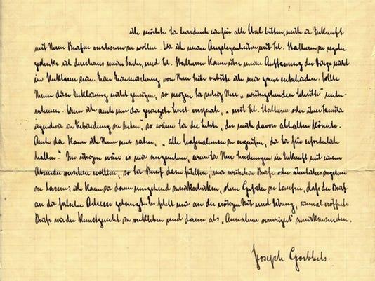 Goebbels letter