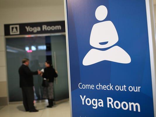 airport yoga room