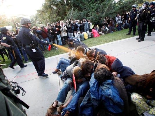 pepper spray students