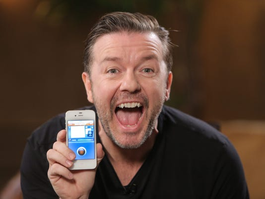 Ricky Gervais iPhone