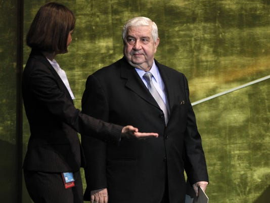 Foreign Minister Syria al-Moallem