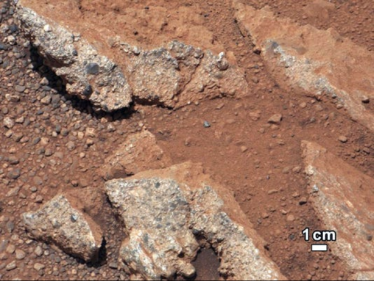 mars rover water