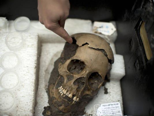 Mexico Aztec skulls